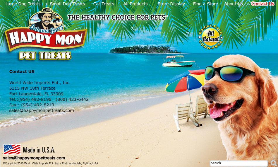 Bahama Barry™ Happy Mon Pet Treats™